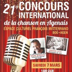 21° CONCOURS INTERNATIONAL DE LA CHANSON EN AGENAIS